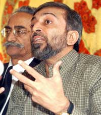 Farooq Sattar, leader of the Muttahida Qaumi Movement