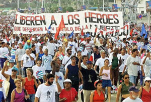 Cubans protest detention of spies
