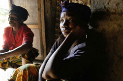 Burundian women victimized by rape as a weapon of war.