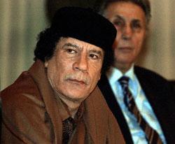 Libyan leader Col. Muammar al-Qaddafi