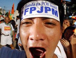 A Fernando Poe Jr. supporter