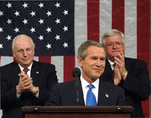 Bush delivers the State of the Union address