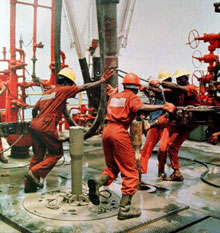 Nigerian oil workers