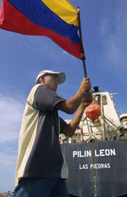 The Pilin Leon, emblem of Venezuela's oil strike.