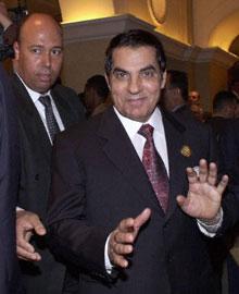 Tunisian President Zein al-Abidine Ben Ali