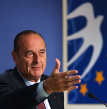 French President Jacques Chirac