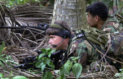 U.S. troops practice fighting Abu Sayyaf in the Philippines