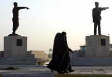 Women walking in Basra, Iraq