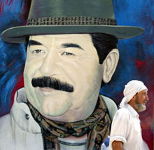 Mural of Saddam Hussein