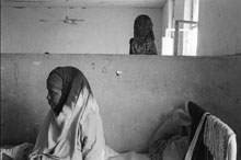 A woman is treated for malnutrition in Ethiopia
