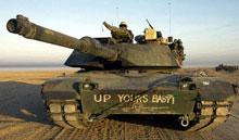 American tank in Kuwait