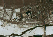 Nuclear reactor site in Yongbyon, North Korea