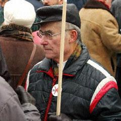 Protester in Bratislava, Slovakia