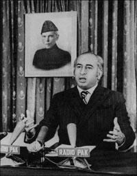 Pakistani President Zulfikar Ali Bhutto, 1971