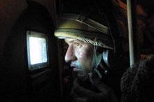 A British soldier enters Basrat