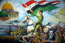 Saddam Hussein marches from Iraq to Jerusalem