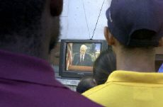 Cubans Watch former President Jimmy Carter on TV