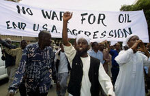 Kenyans protest the war in Iraq