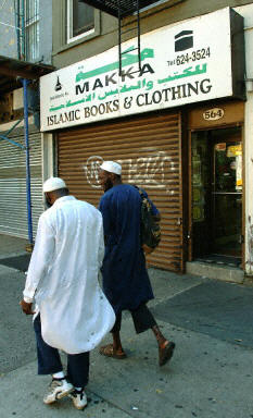 Muslim Americans walk the streets of Brooklyn, NY