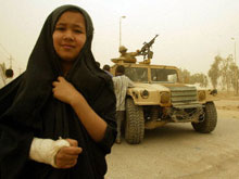An Iraqi girl, a victim of UXO
