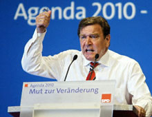 Gerhard Schroeder has faced an uphill battle selling his economic reforms