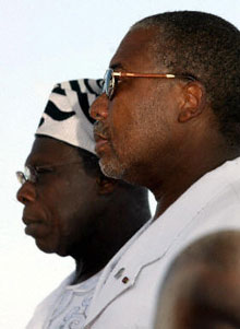 Charles Taylor and Olesegun Obasanjo