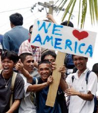 Philippines see American soldiers off