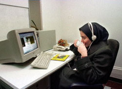 Internet cafe Iran