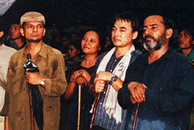 Nepalese Maoist rebel leaders