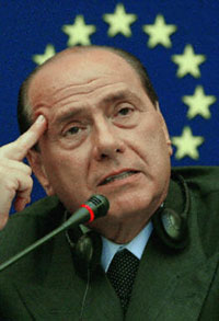 Silvio Berlusconi answers journalists questions, July 2, 2003