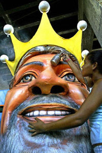 Carnival mask of Lula