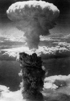 Mushroom cloud over Hiroshima