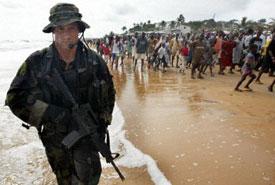 U.S. Marine in Liberia