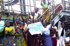 Women revolt in the oil-producing region of the Niger Delta