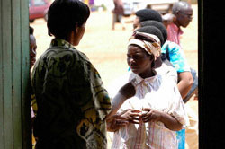 Rwandans line up to vote