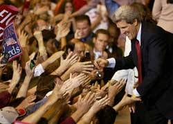 Democratic presidential candidiate John Kerry