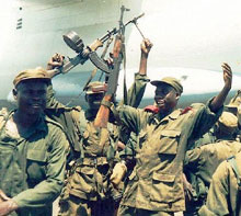 Ugandan troops withdrawing from the Democratic Republic of Congo