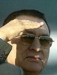 Egyptian President Hosny Mubarak