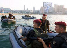 Lebanese commandos prepare for the Francophone Summit in Beirut