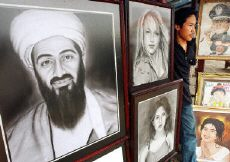 Osama bin Laden and Brittney Spears for sale in Jakarta