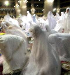 Muslims pray in Jakarta