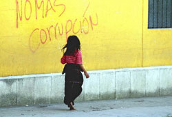 Guatemalan girl one day before the elections