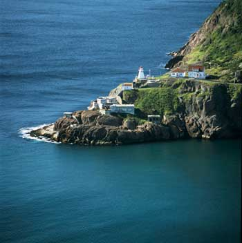 Fort Amherst at the entrance to St. John's harbour