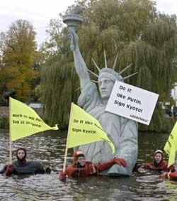 Greenpeace environmental activists