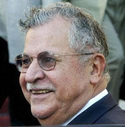 Iraqi Kurdish leader Jalal Talabani