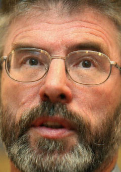 Gerry Adams, leader of Sinn Fein