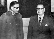Augusto Pinochet with Allende