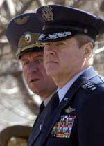 NATO Supreme Allied Commander in Europe US General Joseph W. Ralston and Bulgarian army Chief of Staff General Mikho Mikhov