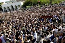 Egyptians mourn the death of Muslim Brotherhood leader Mustafa Mashhour