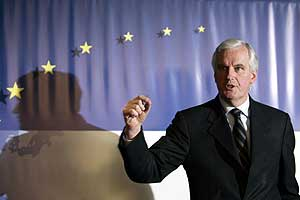 French Foreign Minister Michel Barnier